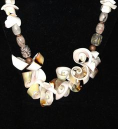 Shiva and Cone Shell Necklace by KarinsForgottenTreas on Etsy