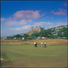 Royal St. Davids Golf Club, Wales. Is that a castle?