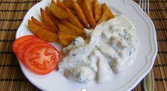 Fokhagymás-tejfölös csirkemell, steak burgonyával | Receptkirály.hu