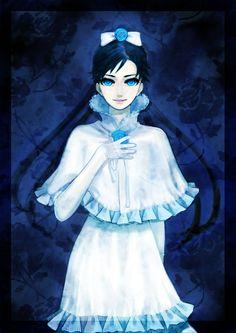 http://www.zerochan.net/748112 | Tags: Anime, Blood+, Diva, White Bow, Leaves, White Gloves, White ...