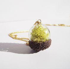 Acorn Terrarium Necklace