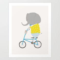 Emerson+Rides+Art+Print+by+Ez+Pudewa+-+$24.00