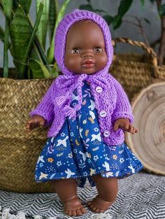 Your place to buy and sell all things handmade African American Baby Dolls, Baby Born, Doll Clothes, Crochet Hats, Diy Crafts, Knitting, Poems, Sweaters, Handmade