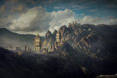 ArtStation - mountain castle, steve fraser