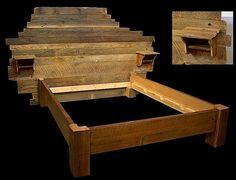 Custom Headboard Reclaimed Wood Bed