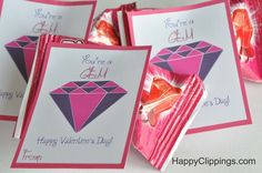 You're a Gem Valentine's Day Printable Cards