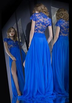 Blue-Belle I would wear this shopping.. but I think it would get caught in the wheels of the cart.. Oh well life of the rich and famous... #HA!