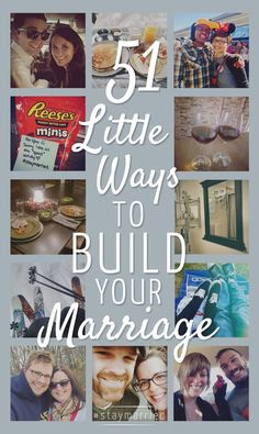 Little things can make the biggest difference in a marriage. Here are 51 Little Ways to Build Your Marriage. Godly Marriage, Strong Marriage, Marriage Relationship, Marriage And Family, Happy Marriage, Marriage Advice, Marriage Help, Marriage Goals, Relationship Repair