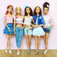 Today's outfits! #barbie #barbiedoll #barbiemadetomove #madetomovebarbie…