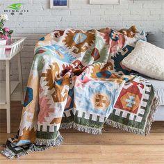 Mediterranean Geometric Pattern Throw Rug Cheap Blankets, Deco Studio, Plush Area Rugs, Nordic Lights, Sofa Blanket, Boho Throw Blanket, Throw Blankets, Cotton Throws, European Fashion