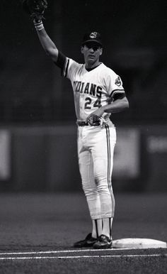 Cleveland Indians Manager, Terry Francona, back when he manned first base in Cleveland
