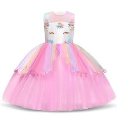 TTYAOVO Filles Licorne Fantaisie Princesse Robe Enfants Fleur Pageant Robe De Soirée sans Manches À Volants Robes - Fashion Trends 2020 Modadiaria 每日时尚趋势 2020 时尚 Party Gown Dress, Ball Gown Dresses, Flower Dresses, Party Dresses, Costume Dress, Unicorn Dress Girls, Girl Unicorn Costume, Unicorn Party, Toddler Girl Dresses