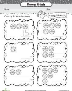 12 Best The Nickel Images On Pinterest Coins, Kindergarten Math Printable Coin Nickel Money Match Nickels