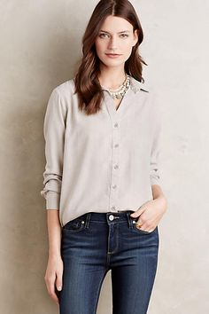 Side-Button Tunic - anthropologie.com