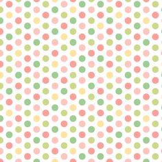 32 x Easter Polka Dot Printed Paper Doilies