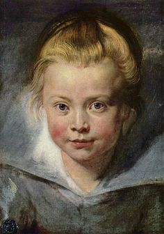 Portrait of a girl by the Belgian artist Peter Paul Rubens - Style:Baroque