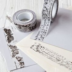 Gorgeous Adhesive Tape, with a delicate look but strong enough for albums and scrapbooks. Great as a wraparound for handmade tags =) Washi Tape Diy, Masking Tape, Washi Tapes, Arts And Crafts, Paper Crafts, Diy Crafts, Cox And Cox, Scrapbooking, Decorative Tape