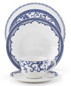 Lauren Ralph Lauren Dinnerware, Mandarin Blue Collection - Fine China - Dining & Entertaining - Macy's