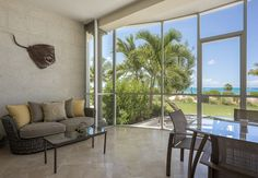 Beautifully furnished large screen in balconies.  All suites enjoy stunning ocean front views