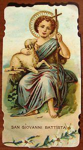 SANTINO-di-SAN-GIOVANNI-BATTISTA-HOLY-CARD-ESTAMPA-ANDACHTSBILD-lotto-G