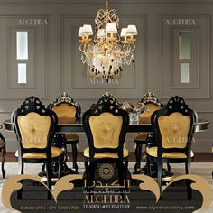ALGEDRA Trading & Furniture is specialized in providing modern, classic Turkish & Italian furniture for residential and commercial projects. Italian Furniture, Dining Room Furniture, Chandelier, Ceiling Lights, Classic, Modern, Home Decor, Home Decoration, Derby