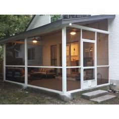 Screened In Porch Diy, Screened Porch Designs, Backyard Designs, Patio Design, Front Porch, Outdoor Screen Room, Outdoor Screens, Aluminum Screen, Courtyards