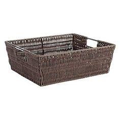 $14.99 Essential Home  Large Jave Rattique Shelf Tote Kmart  Item#  011W020796900001 | Model#  02079690