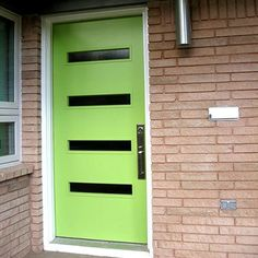 I just found a new obsession! Mid-Century Modern front doors!