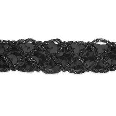 "3/4"" Christina Braided Sequin Trim Roll Black from @fabricdotcom  This braided sequin trim is perfect for apparel embellishments, costumes, and even home decor accents. Trim measures 3/4'' wide."