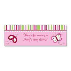Shop Ladybug Butterfly Personalized Favor Gift Tags created by little_prints. Garden Baby Showers, Personalized Favors, Ladybug, Gift Tags, Business Cards, Berry, Things To Come, Butterfly, Create