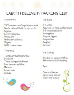 The Ultimate Packing List For Labor And Delivery - With FREE Printable - Raising Sticky Hands To Heaven Pregnancy Tracker, Pregnancy Journal, Pregnancy Care, Ultimate Packing List, Baby Nails, Baby Mittens, Nursing Pillow, Mom Advice, Hospital Bag