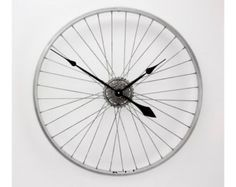 Bicycle Wheel Clock Bicycle Clock Bike Clock by treadandpedals