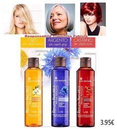 Capelli Biondi ? Grigi ? Scuri? 💚  Ravviva il tuo colore!!!! 😍 Shampoo 3.95€  Camomilla, Centaurea e Quinquina 🍃🍃✨