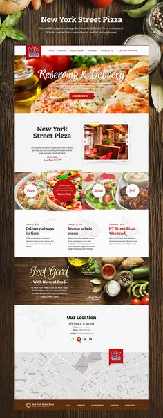 New York Street Pizza website on Web Design Served