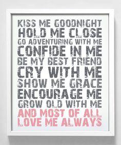 Look at this #zulilyfind! 'Love Me Always' Print by Gus & Lula #zulilyfinds