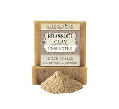 Detox RHASSOUL CLAY Soap  Moisturizing All by HolisticOrganics