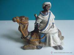 Bronce vienés de tema orientalista árabe a camello tintero modernista 1920 especial colección Camel, Lion Sculpture, China, Statue, Antiques, Animals, Art, Bronze, Figurative
