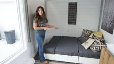 Ana White's Open Concept Modern Tiny House with Elevator Bed