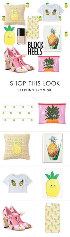"""""""PINEAPPLE 🍍"""" by chetureddy ❤ liked on Polyvore featuring Studio Mercantile, Sunnylife, Nordstrom Rack, Frontgate, Boohoo and Dolce&Gabbana"""
