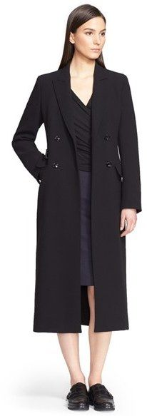 'Brunico' Double Breasted Wool Crepe Coat. This is a fantastic look.