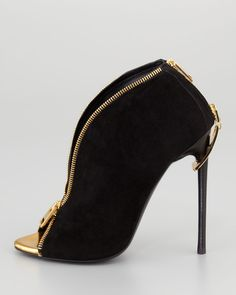 Tom Ford Zipper-Heel Suede tom ford shoes26