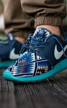 Nike Roshe Run: Pendleton Customs #insane #need #stylingchaos My son would love these...