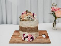 Not bad for a Woolworths mud cake covered in icing and flowers. Picture: SB Creative Co.