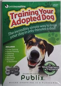 NEW! Training Your Adopted Dog (DVD) Factory Sealed
