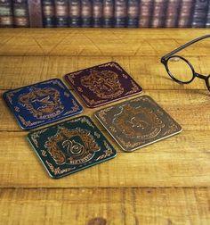 Harry Potter Hogwarts Crest Metal Coasters