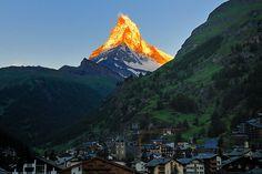 Dawn in Zermatt Switzerland