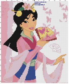 Mulan cross stitch pattern (click to view)