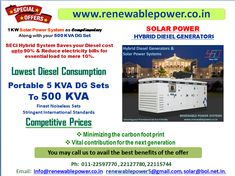 Diesel Generators & Solar Power System