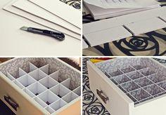 DIY organizador de cajones