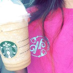 starbucks coffe and ashton brye tees. we love the south!